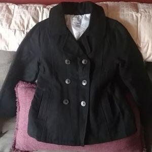 Girls old Navy sz L 10-12 black pea coat